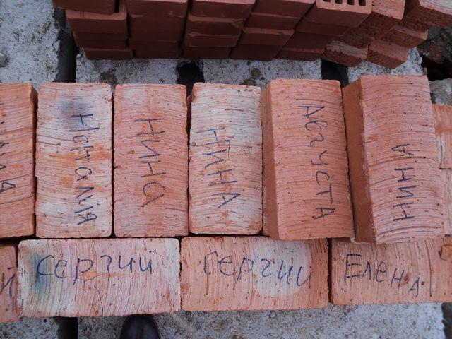 Имена жертвующих на храм